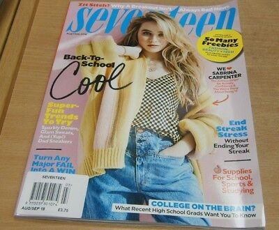 Seventeen USA Magazine Aug/Sep 2018 Sabrina Carpenter + Back to School Cool