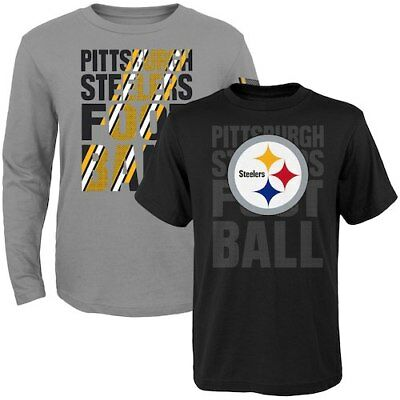 Pittsburgh Steelers Toddler Two-Pack Playmaker Long Sleeve & Short Sleeve