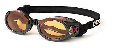 SUNGLASSES FOR DOGS by Doggles - RACING FLAMES - EXTRA LARGE