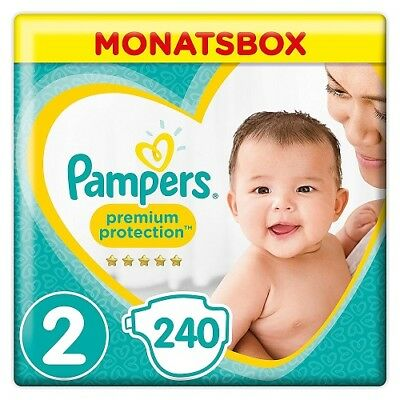 Pampers Premium Protection New Baby Größe 2 (Mini 3-6kg) MonatsBox 240 Windeln