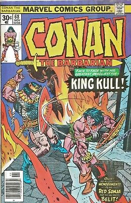 Conan The Barbarian Original Series #68  Red Sonja * King Kull  Marvel 1976