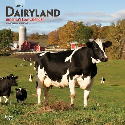 2019 Cow Dairyland Wall Calendar, Cows by BrownTrout