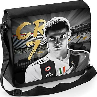 online store 13260 a7728 RONALDO MESSENGER BAG Juventus School CR7 Boys Shoulder Laptop Football  Sports