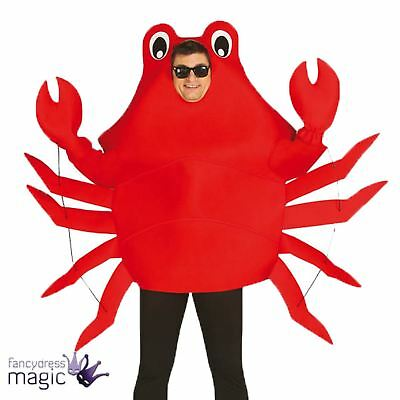 Adult Mens Ladies Red Crab Sea Life Fish Animal Novelty Stag Fancy Dress Costume