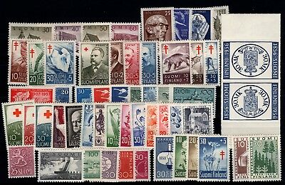 P79526 / Finlande / Finland / Y & T # 437 / 490 Complet Neufs * / Mint Mh 248 €