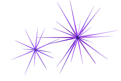 15'' Purple Starburst Ornament Hanging Purple Star Decoration Starbursts 15''