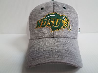 North Dakota State Bison Cap Zephyr Stretch Fit Fitted Custom White Mesh Hat