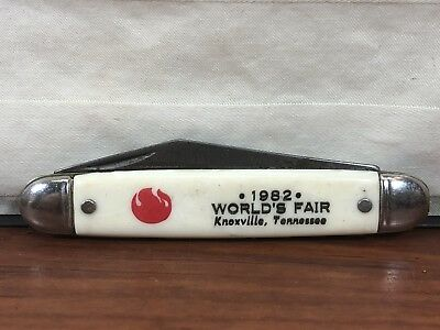 Vintage 1982 World's Fair Knoxville, TN. Souvenir Folding Pocket Knife U.S.A.