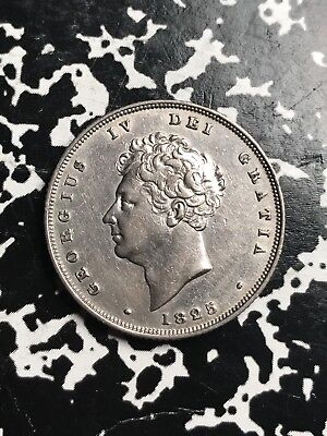 1835 Great Britain 1 Shilling Lot#X7520 Silver! Nice Detail! Old Cleaning