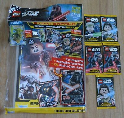 Lego Star Wars™ Serie 1 Figurine Gioco 5 Booster / 25 Mappe: + Starterpack