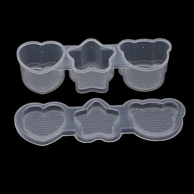 Clear Star Bear Love Mold Cake Chocolate DIY Sushi Mould Kitchen Tools S