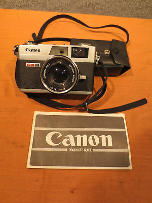FPOR Canon Canonet G-III 17 W/ Flash And Product Guide In Original Box(450)