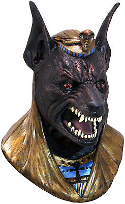 Anubis Latex Mask God of the Dead Egyptian Full Over Head Adult Mask