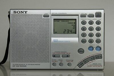 SONY ICF- SW7600GR Weltempfänger, SSB, Synchrodetector. Like NEW.