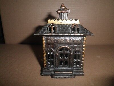 Great old original cast iron Home State Bank building still bank  c.1889