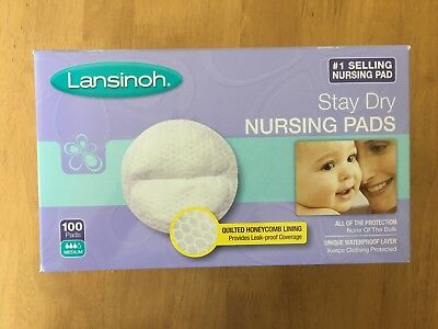 Open Box of Lansinoh Stay Dry Disposable Nursing Pads - 80 pads