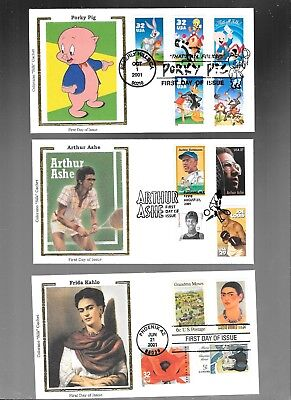 Us Fdc  Collection Lot Of 9  With Combo  Colorano Silk