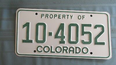 Property Of Colorado Metal License Plate-State Patrol Public Safety Vehicle