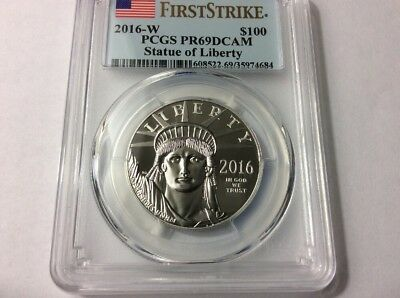 2016-W American Platinum Eagle Proof (1 oz) $100 - PCGS PR69 DCAM - First Strike