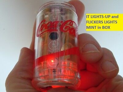 Vintage Coca Cola Soda Pop Coke Can Lighter (LIGHTS-UP) Old Coke Advertising MIB
