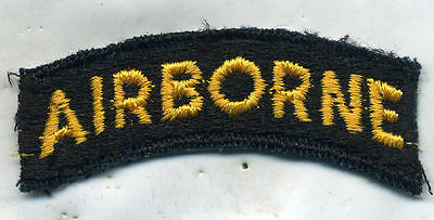 US Army Airborne Yellow Black Patch Tab Cut Edge
