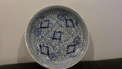 2 Japanese Old Antique Imari-ware Blue&White Celadon Plates