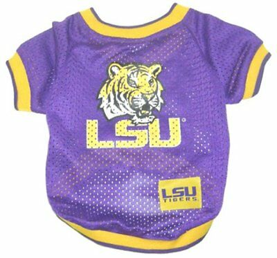 LSU Tigers NCAA dog pet JERSEY Shirt RAGLAN (all sizes)