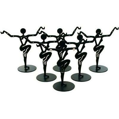 "Earring Dancer Display Stands Black 3 3/8"" 6Pcs"