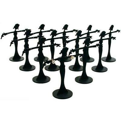 12 Earring Display Fixtures Jewelry Showcase Black Unit