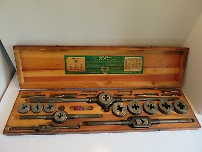 Greenfield Little Giant Tap and Die Set 9-1/2 Fantastic Condition
