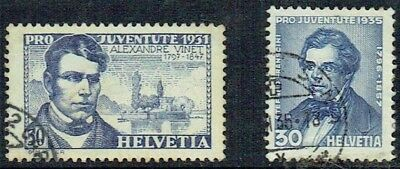 Switzerland.1931 And 1935. Pro Juventute Used.as Is.see Scan