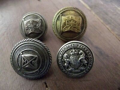 Huddart-Parker, U.S.S. Co., & Royal Mail Steam Packet Co. Shipping Line Buttons