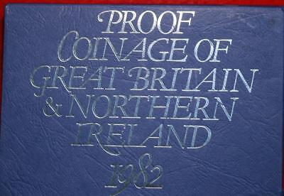 1982 1973 Coinage Of Great Britain & Northern Ireland Proof Set