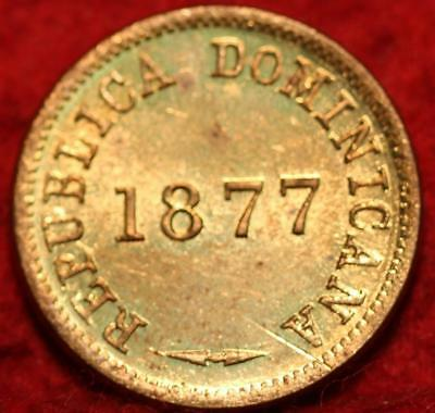 Uncirculated 1877 Dominican Republic Centavo Foreign Coin