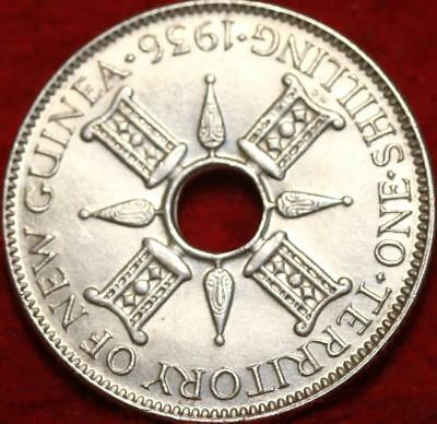 1936 New Guinea One Shilling Silver Foreign Coin