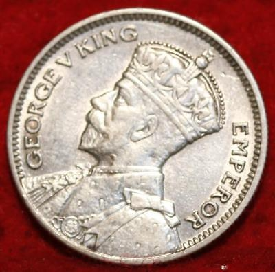 1935 Fiji 6 Pence Silver Foreign Coin