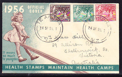New Zealand 1956 Health First Day Cover  - Australia