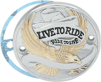 Drag Specialties Live To Ride Points Cover Gold For 84-99 EVO Big Twin, 04-15 XL