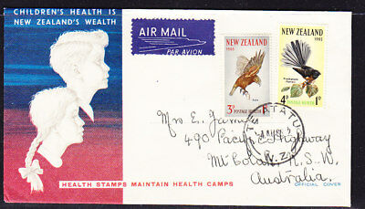 New Zealand 1965 Health  First Day Cover  - Australia