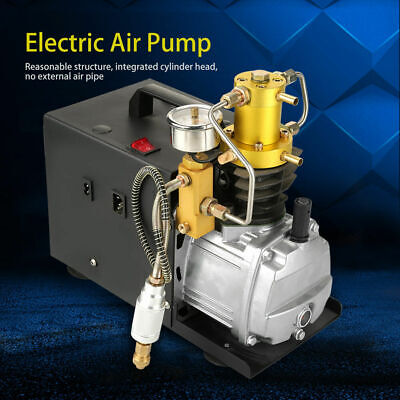 High Pressure 40Mpa Water Cooled Electric Air Compressor Pump System 220V New