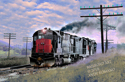 SP, SOUTHERN PACIFIC ALCo C630, ART BY ANDY ROMANO LIMITED 1st EDITION R15-226