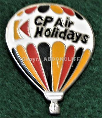 CANADIAN PACIFIC AIR LINES CP AIR HOLIDAYS Pin HOT AIR BALLOON 70's Pacman Exc