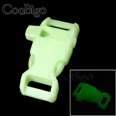 "5X Glow in the Dark 5/8"" Side Release Buckle Whistle Paracord Bracelet Backpack"