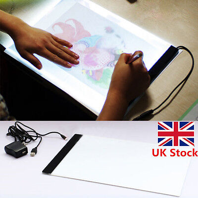 A4 LED Stencil Board Light Box Artist Art Tracing Drawing Copy Plate Table Shop