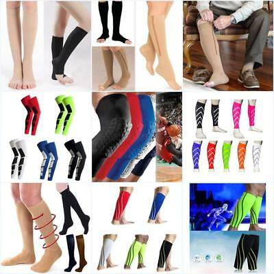 Unisex Compression Varicose Stocking Running High Socks Calf Support Leg Relief