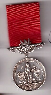 Nice Early St Silver Newzealand Fire Mens Medal 1.7 .1924 Named G.w Gibbsons