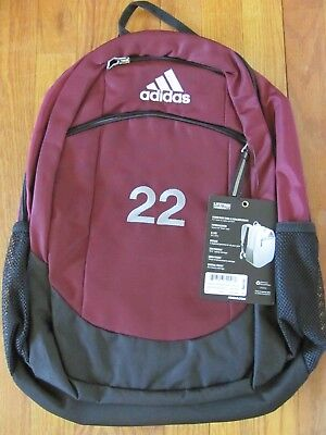 a13c5287e4 adidas Striker II (2) Team Backpack in Maroon with Embroidered  22