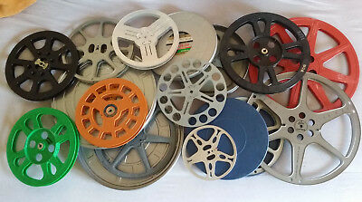 Grand Lot De Divers Boites Et Bobines De Films 16 Et 35Mm Pour Decoration
