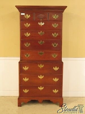 41256E: BARTLEY Collection Chippendale Mahogany Chest On Chest