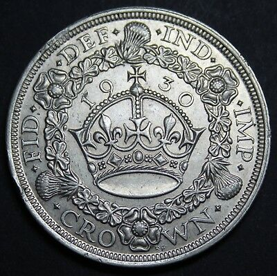 1930 George V Wreath Crown UNC